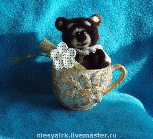 Игрушки животные, ручной работы. Ярмарка Мастеров - ручная работа. Купить Влюбленный Мишка. Handmade. Мишка, Сухое валяние
