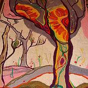 Картины и панно ручной работы. Ярмарка Мастеров - ручная работа два солнца художественный войлок. Handmade.