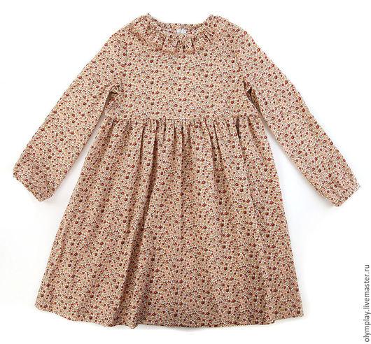 Одежда для девочек, ручной работы. Ярмарка Мастеров - ручная работа. Купить Платье детское - ручная работа (200400). Handmade. Коричневый