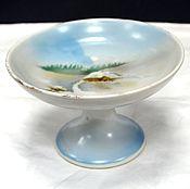 Винтаж handmade. Livemaster - original item Vase for sweets from the service Winter Dulyovo f-ka True 1920s. Handmade.