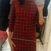 Одежда ручной работы. Ярмарка Мастеров - ручная работа Платье Шотландка прямого кроя. Handmade.