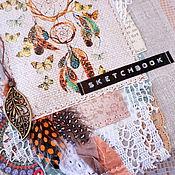 Канцелярские товары ручной работы. Ярмарка Мастеров - ручная работа Скетчбук в Бохо-стиле. Handmade.