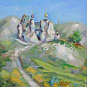 Pictures handmade. Livemaster - original item Oil painting Spassky Church. Kostomarovskiy of the cave.. Handmade.