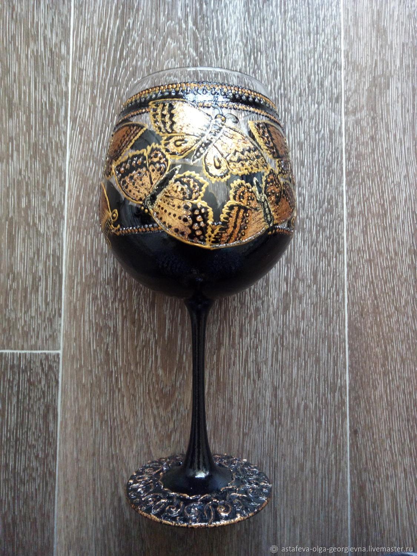 Glasses: Golden butterfly, Wine Glasses, Krasnodar,  Фото №1