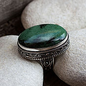 Украшения handmade. Livemaster - original item The Royal ring (ring) zoisite,