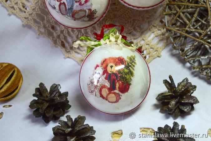 Новогодние шары. Шары на елку . Елочное украшение, Подвески, Междуреченск,  Фото №1