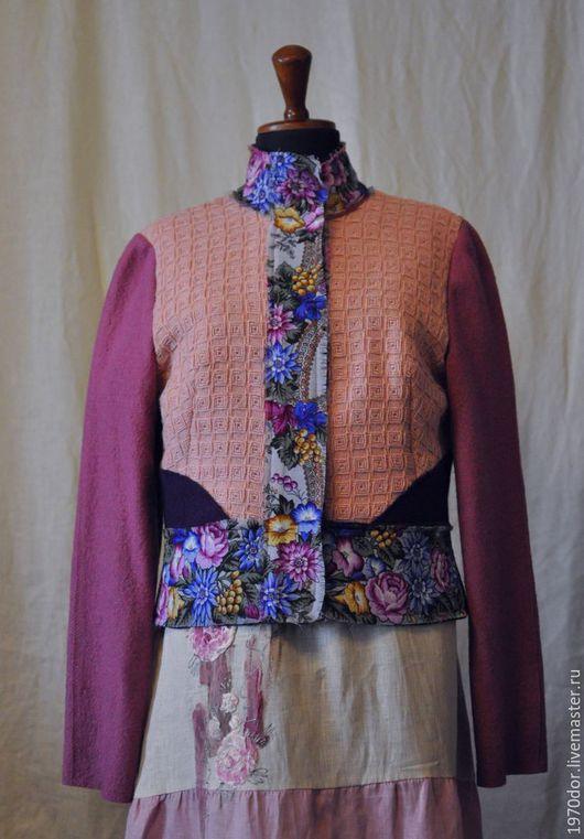 """Пиджаки, жакеты ручной работы. Ярмарка Мастеров - ручная работа. Купить Жакет шерстяной """" Казачка"""". Handmade. Комбинированный, шерсть"""
