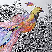 Картины и панно ручной работы. Ярмарка Мастеров - ручная работа Птица Счастья. Handmade.