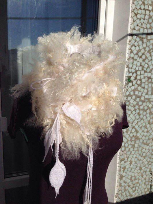 """Шарфы и шарфики ручной работы. Ярмарка Мастеров - ручная работа. Купить Шарф-горжетка """" Нежность"""". Handmade. Белый, шарф"""