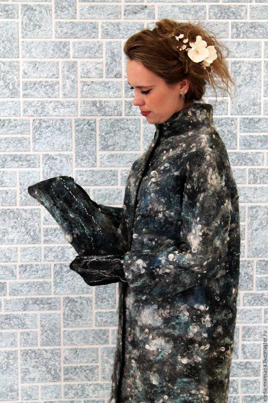 """Верхняя одежда ручной работы. Ярмарка Мастеров - ручная работа. Купить Авторское пальто """"Звездное небо"""". Handmade. Комбинированный"""