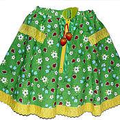 Одежда ручной работы. Ярмарка Мастеров - ручная работа Юбка для девочки в стиле бохо Летнее настроение. Handmade.