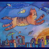 Картины и панно ручной работы. Ярмарка Мастеров - ручная работа Кошачьи сны. Handmade.