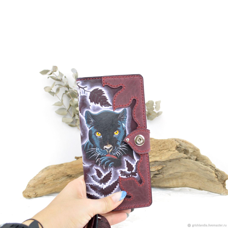 Большой кошелёк: Пантера бордо, Кошельки, Воронеж,  Фото №1