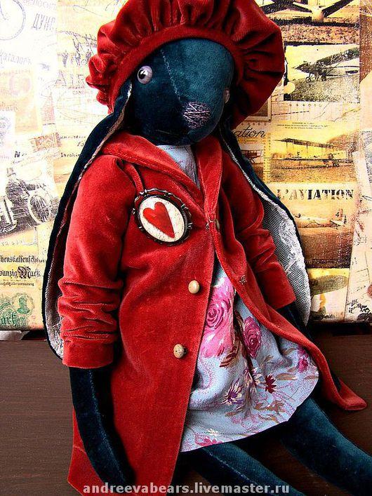 """Мишки Тедди ручной работы. Ярмарка Мастеров - ручная работа. Купить По мотивам """"Голубой зайки в розовом пальто"""". Handmade."""