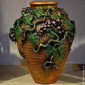 Для дома и интерьера ручной работы. Ярмарка Мастеров - ручная работа ваза напольная декоративная. Handmade.