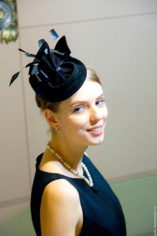 Шляпы ручной работы. Ярмарка Мастеров - ручная работа. Купить Коктейльная шляпка «аристократка». Handmade. Черный, шляпка женская