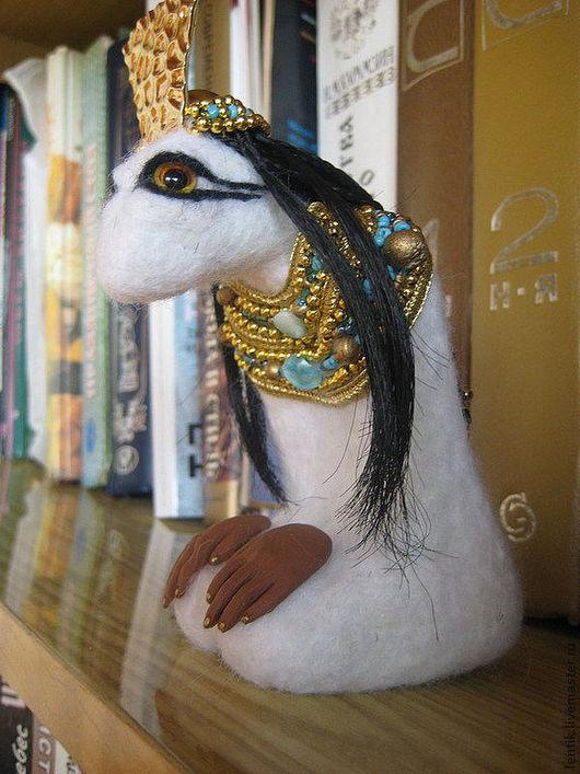 """Человечки ручной работы. Ярмарка Мастеров - ручная работа. Купить Валяная фигурка """"Египет"""". Handmade. Белый, бизнес подарок"""