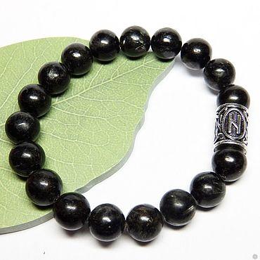 Decorations handmade. Livemaster - original item Bracelet made of moumita with the rune of Hagalaz 18 stone. Handmade.