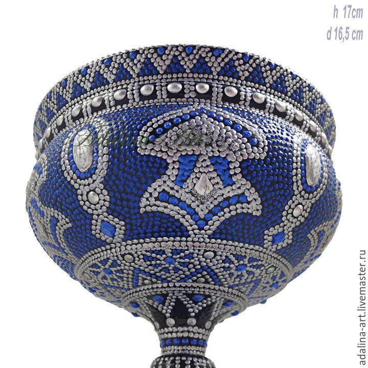 Конфетница ВАССА ваза кубок Точечная роспись