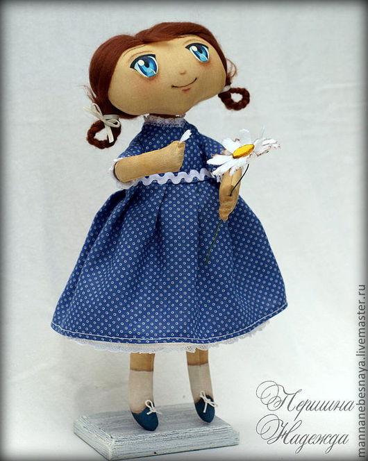 Ароматизированные куклы ручной работы. Ярмарка Мастеров - ручная работа. Купить Софьюшка Девочка гадает на ромашке Интерьерная Ароматизированная Кукла. Handmade.