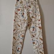 Винтаж ручной работы. Ярмарка Мастеров - ручная работа Винтажные джинсы с интересным принтом. Handmade.