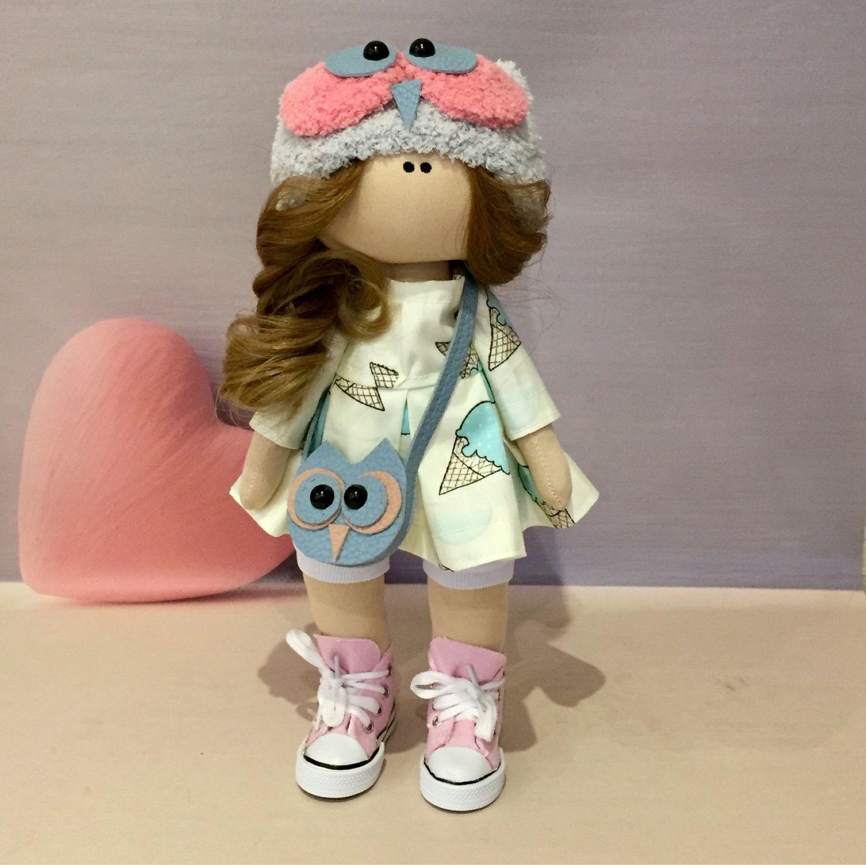 Куклы тыквоголовки ручной работы. Ярмарка Мастеров - ручная работа. Купить Кукла совушка. Handmade. Совушка, кукла тыквоголовка, трикотаж
