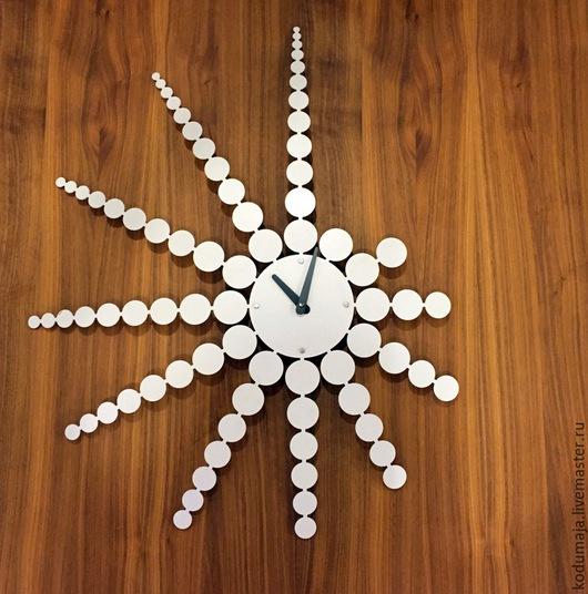 """Часы для дома ручной работы. Ярмарка Мастеров - ручная работа. Купить Часы 70см/56см """"Punktid"""". Handmade. Настенные часы"""