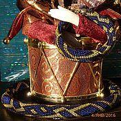 """Украшения ручной работы. Ярмарка Мастеров - ручная работа Вязаный жгут из бисера """"Зимняя ночь"""". Handmade."""