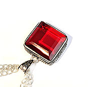 Украшения handmade. Livemaster - original item Garnet pendant on a chain