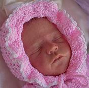 """Работы для детей, ручной работы. Ярмарка Мастеров - ручная работа Шапочка для новорожденной. Шапочка для девочки """" соня"""". Handmade."""