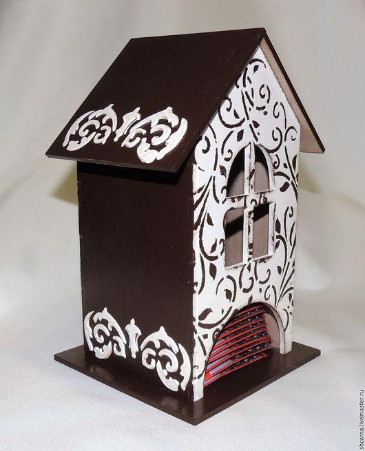 """Кухня ручной работы. Ярмарка Мастеров - ручная работа. Купить Чайный домик """"Шоколадный пирог"""". Handmade. Коричневый, Декупаж"""