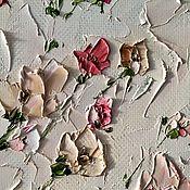 Картины и панно handmade. Livemaster - original item Pink wild rose powder painting in bedroom buy. Handmade.