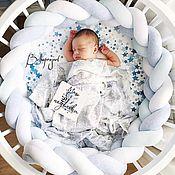 Текстиль ручной работы. Ярмарка Мастеров - ручная работа Бортик коса для детской кровати, детское постельное. Handmade.