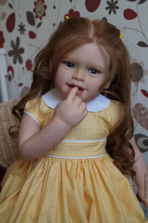 Куклы-младенцы и reborn ручной работы. Ярмарка Мастеров - ручная работа. Купить Тиффани. Handmade. Желтый, генезис
