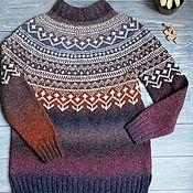 Одежда ручной работы. Ярмарка Мастеров - ручная работа Вязаный свитер 34 ягоды, ручной вязки. Handmade.