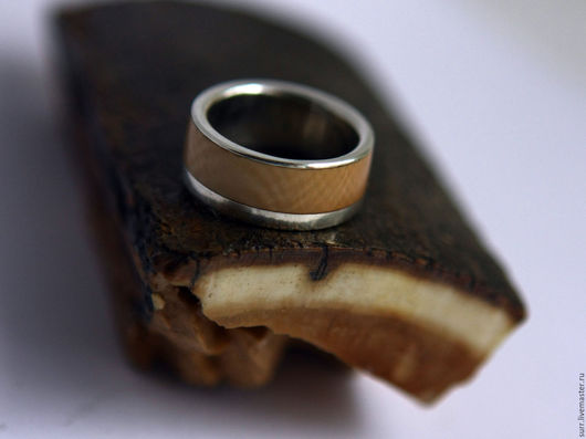 Кольца ручной работы. Ярмарка Мастеров - ручная работа. Купить Кольцо с бивнем мамонта № 237. Handmade. Бежевый, золото