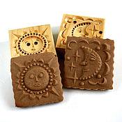 Для дома и интерьера handmade. Livemaster - original item 11 gingerbread a Couple of forms of sun and moon. Handmade.