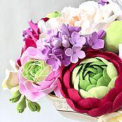 """Цветы и флористика ручной работы. Ярмарка Мастеров - ручная работа Интерьерная композиция """"Яркие краски"""". Handmade."""