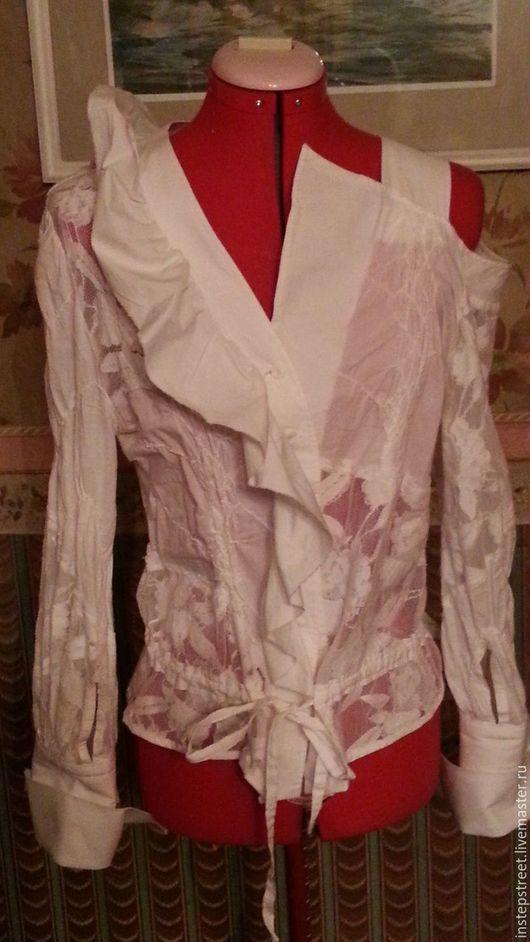 """Блузки ручной работы. Ярмарка Мастеров - ручная работа. Купить БЛУЗКА 100% хлопок """"ПЕНА"""". Handmade. Белый, блузка женская"""