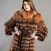 Одежда ручной работы. Ярмарка Мастеров - ручная работа Пальто меховое настрочное. Мех лисы/мех енота. Handmade.