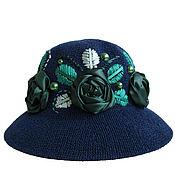 Аксессуары handmade. Livemaster - original item Hat EMERALD STORY. Handmade.