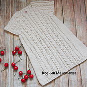 Работы для детей, handmade. Livemaster - original item tunic I - Princess knitted tunic sundress. Handmade.