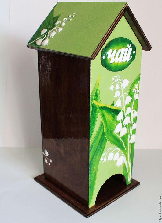 Кухня ручной работы. Ярмарка Мастеров - ручная работа. Купить Чайный домик Ландыши 3D-эффект. Handmade. Зеленый, ландыш
