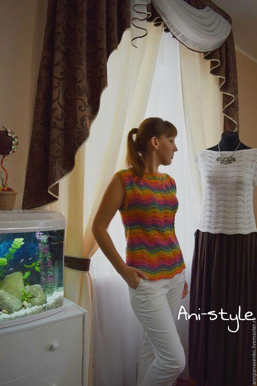 """Топы ручной работы. Ярмарка Мастеров - ручная работа. Купить Топ ажурный """"Rainbow"""". Handmade. Топ, модная одежда"""