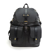 Сумки и аксессуары handmade. Livemaster - original item Backpack leather black male Gabriel Mod R35-512. Handmade.