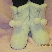 """Обувь ручной работы. Ярмарка Мастеров - ручная работа Теплушки """"Белые"""". Handmade."""