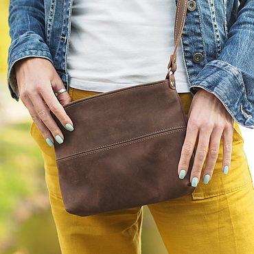 Bags and accessories handmade. Livemaster - original item Malta.  Small leather crossbody handbag. Handmade.