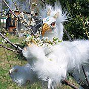 Куклы и игрушки ручной работы. Ярмарка Мастеров - ручная работа Бескрылый белоснежный грифон Сапфир. Handmade.