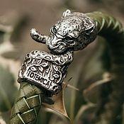 Украшения handmade. Livemaster - original item Leopard Bracelet | Silver / Premium Leather. Handmade.