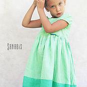 Работы для детей, ручной работы. Ярмарка Мастеров - ручная работа Мятное платье для девочки. Handmade.